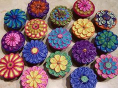Carmen Rose Prose: Polymer Clay Cabinet Knobs - a knobby tutorial (with metal pull base)