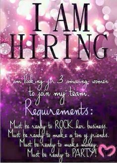 I'm looking for a few great new team members to join on a team that is on fire! Our unit is on it's way to the top and I want you to be a part of it!! Let's set the world on fire and show 'em what we can do!