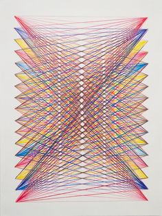 string art puntos hilos tension color lineas