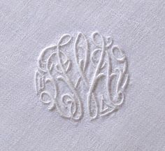 Em's Heart Antique Linens -Antique Monogrammed Linen Napkins