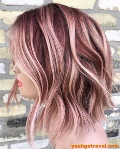 Pretty Hair Color, Hair Color Pink, Hair Color And Cut, Hair Dye Colors, Creative Hair Color, Corte Y Color, Hair Color For Women, Rose Gold Hair, Creative Hairstyles