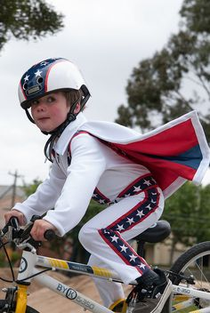Evel Rides Again by Lightning McStitch1, via Flickr