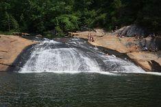 Hiking 'Sliding Rock' in Tallulah Gorge State Park (Habersham, GA)