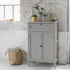 This collection of storage furniture has a really homely feel to it, combining simple lines and an original. Buffet Vitrine, Wardrobe Cabinets, Low Cabinet, Oak Color, Simple Lines, Drawers, Sweet Home, Shelves, Black Metal