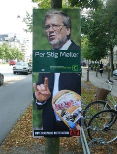 Creative campaign in addition to the late great election in DK