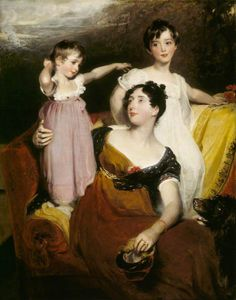 1814 Lydia Elizabeth Hoare, Lady Acland and children by Sir Thomas Lawrence (Killerton - Broadclyst, Exeter, Devon UK)   Grand Ladies   gogm