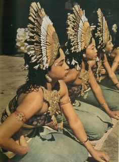 Balinese Dancers Wait Intently for a Cue Photographic Print by W. Robert Moore