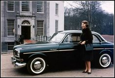 Queen Beatrix of the Netherlands with a Volvo Amazon