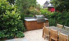 Simple Outdoor Kitchen Simple Built-in Barbecues Outer Space Landscape Architecture San Francisco, CA