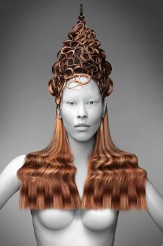De haare: gonzalo zarauza for beta hair School Make Up, Pelo Editorial, Avant Garde Hair, Design Textile, Extreme Hair, Fantasy Hair, Hair Shows, Creative Hairstyles, Crazy Hair