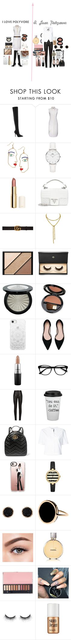 """Sassy Vs Classy"" by explorer-15161245249 ❤ liked on Polyvore featuring Yeezy by Kanye West, Thom Browne, Daniel Wellington, H&M, Prada, Gucci, Elizabeth Arden, Lash Star Beauty, Dr.Hauschka and Casetify"