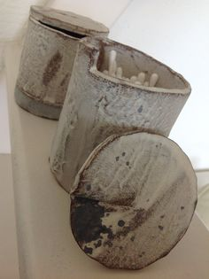 Boxes / Japan Ceramics / Pottery / gray and white / by Ice Grey (Tokyo)