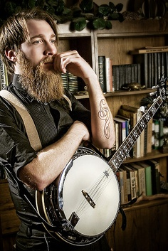 Beards. Men. Banjo. Ink.