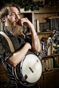 Beards. Men. Banjo. Ink.
