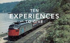 "10 Experiences to give by OH HAPPY DAY!  I love the ""Human Nest"" idea on the California Coast- so rad!!! Regalar Experiencias!"