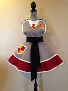 Harry Potter Apron  Gryffindor  Hufflepuff  by AriaApparel on Etsy