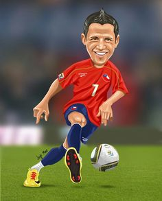 Alexis Sanchez of Chile wallpaper. Football Wallpaper, Chi Chi, Sports Humor, Football Players, Kylie Jenner, Chile, Photoshop, Entertaining, Cartoon