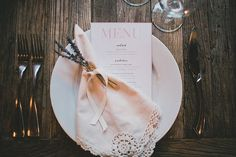 lavender touch + vintage napkin + Twine Events