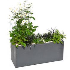 Jardinière rectangulaire VOLCANIA 100 cm