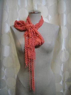 Versatile and lightweight!  This scarf can add pop to almost any outfit!