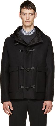 BALENCIAGA Black Embossed Duffle Coat. #balenciaga #cloth #coat ...