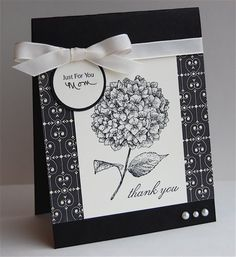 Never considered doing an hydrangea in just black/white. Beautiful result!