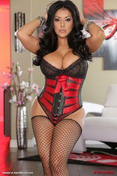 mia corset stockings Kiara