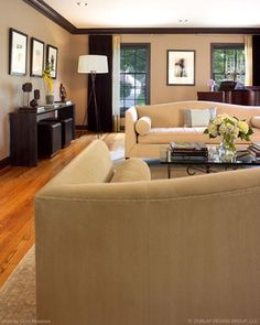 dark crown molding and floors | Dark Crown Molding Design Ideas, Pictures, Remodel, and Decor