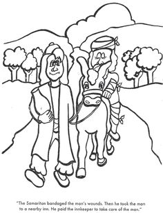 the good samaritan coloring sheet