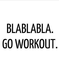 BLABLABLA GO WORKOUT VINYL STICKER