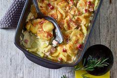 Leckerer Kartoffelauflauf mit Schinken