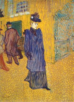 Lautrec jane avril leaving the moulin rouge 1892 - Henri de Toulouse-Lautrec - Wikipedia, the free encyclopedia