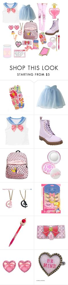 """Pastel Sailor Moon"" by zozo-chan ❤ liked on Polyvore featuring Chicwish, Dr. Martens, Usagi, Tarina Tarantino and Love Quotes Scarves"