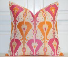 Decorative Pillow Cover  IKAT   Accent door TurquoiseTumbleweed