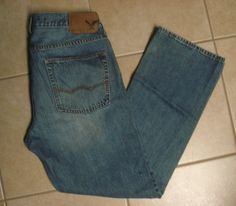 Hollister Balboa Classic Straight Leg Distressed Jeans Men's Size ...