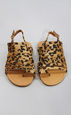 so much strappy sandal - leopard