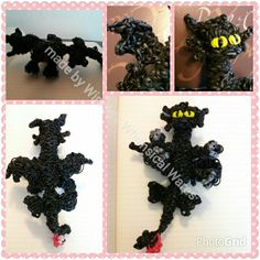 how to make a dragon out of loom bands