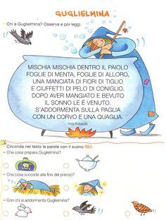 Tate & Fate - 48 Italian Alphabet, Italian Lessons, Maila, Reading Worksheets, Italian Language, Primary School, Nursery Rhymes, School Bags, Activities For Kids