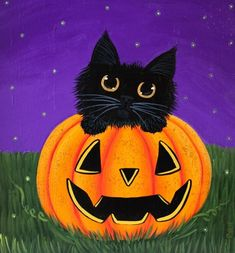 Cartoon Black Cat and Jack O Lantern DIY diamond painting. Cartoon black cat and Jack O 'Lantern. Square Drill, 7 Kit Sizes available. Halloween Rocks, Halloween Images, Halloween Cat, Cartoon Halloween Pictures, Cartoon Ideas, Halloween 2019, Happy Halloween, Halloween Canvas Paintings, Halloween Painting