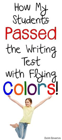My Students Passed the Writing Test Awesome ideas to teach writing AND keep your students highly motivated to write AND PASS THAT TEST!Awesome ideas to teach writing AND keep your students highly motivated to write AND PASS THAT TEST! Fourth Grade Writing, Writing Test, Writing Curriculum, Writing Lessons, Writing Workshop, Teaching Writing, Writing Activities, Teaching Ideas, English Writing