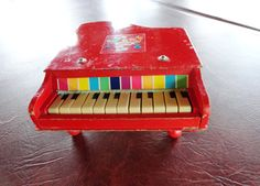 Grand Piano Toy, Wood, Jaymar Specialty Company, 1950s, Very Collectible Vintage Toy, SALE on Etsy, $32.00