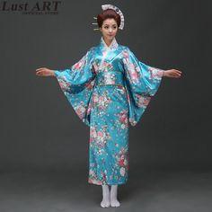 New design kimono dress traditional japanese kimonos ladies elegant japanese traditional dress japanese woman kimono AA263