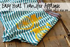 Cute little bicycle skirt - {heat transfer tutorial}