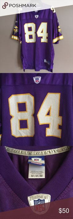 b970c636d Randy Moss Minnesota Vikings Reebok NFL Jsersey Randy Moss 84 Minnesota  Vikings NFL equipment on field