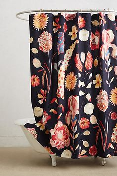 Garden Buzz Shower Curtain #anthropologie