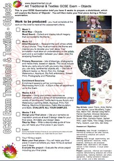 AQA, Art and Design, Art Textiles, GCSE Exam, Objects, Art Exam, Textiles Exam, 2011