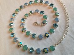 Any Four Colors: Swarovski Necklace (8 mm) by emilytrends on Etsy (sabika inspired)