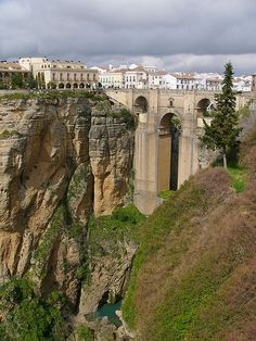 Ronda, Spain; been here, the ride up on the bus was something.