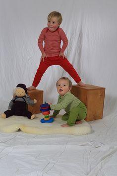 Bio-Babywelt: Schlupfhemd zum leicheteren Anziehen in den Größen 50/56 - 987104 von Cosilana.