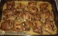 Savanyú káposztán sült oldalas recept pontycomb konyhájából - Receptneked.hu Meat, Chicken, Food, Essen, Meals, Yemek, Eten, Cubs